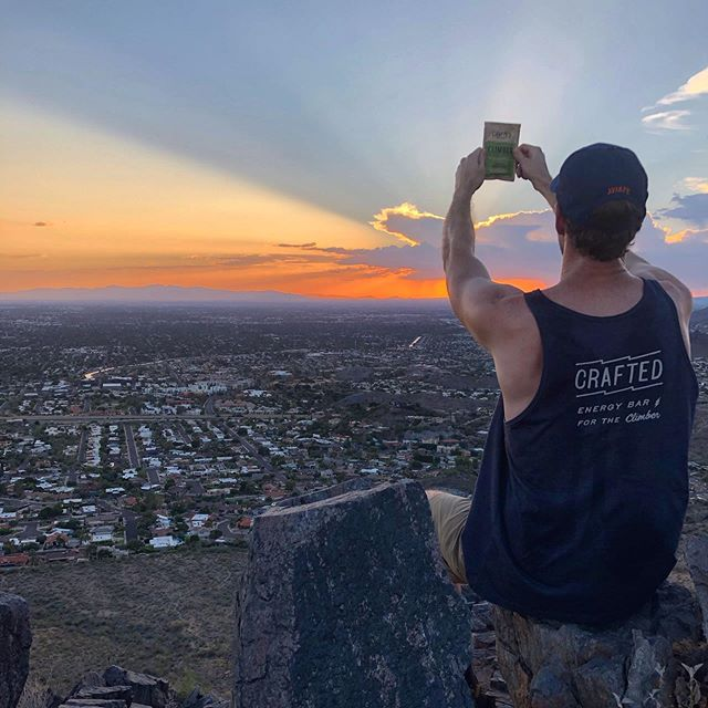 """Everything the light touches is our kingdom. One day, the sun will set on other bars, and will rise with you as the new king."" - Mufasa. . . #lionking #awimbawe #sunsetclimb #climbhard #climbon #climbing #bouldering #craftedenergy #functionalnutrition #climb #optoutside #climbaz #plantbasedathlete #veganclimber #climboutside #outdoorclimbing #piestewapeak #sunset #vegan #cleaneating #vegansnacks #climbharder #mountainclimbing #hiking #hikeaz #arizonatrail #boulderlife #arizona"