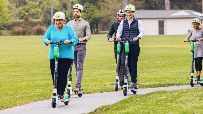 Deputy Mayor Vicki Buck (left) leading micromobility adoption :: By Christchurch City Council