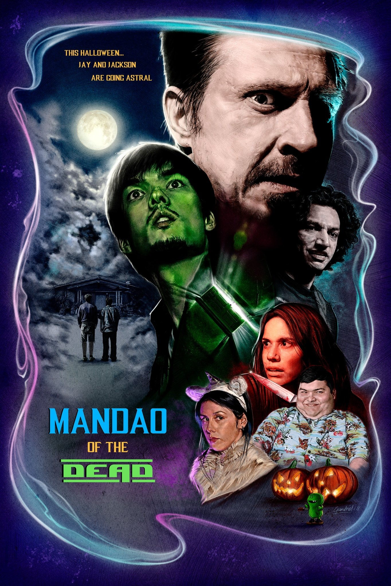 Mandao Of The Dead Official Poster. Illustration by Michael Gambriel.