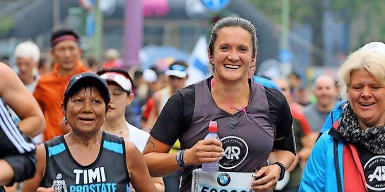 Joanna Bauer lief am vergangenen Wochenende den Marathon in Berlin. Laufen ist für die 38-Jährige das Abtauchen in eine andere Welt. Quelle: privat