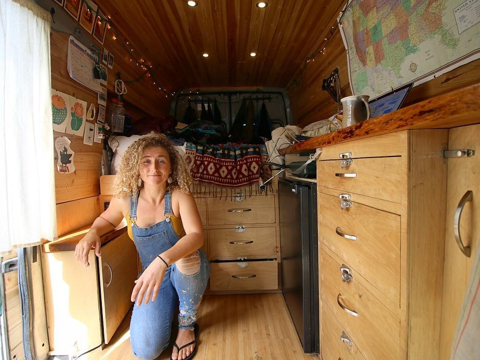 Kaya Lindsay - Kaya is traveling The United States in a 2006 Dodge Sprinter Van conversion, living van life and looking for the best rock climbing spots the country has to offer