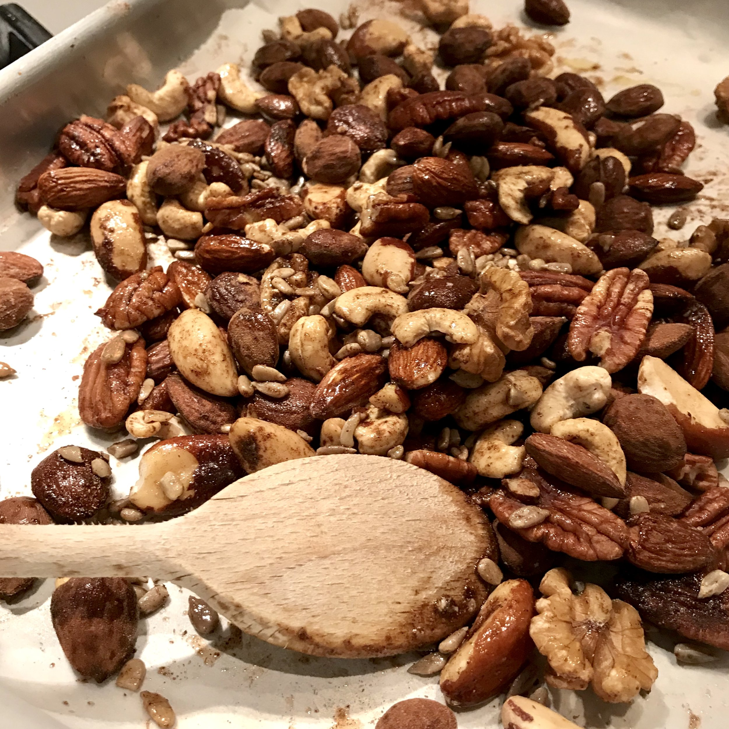 Super-quick spiced roasted nuts