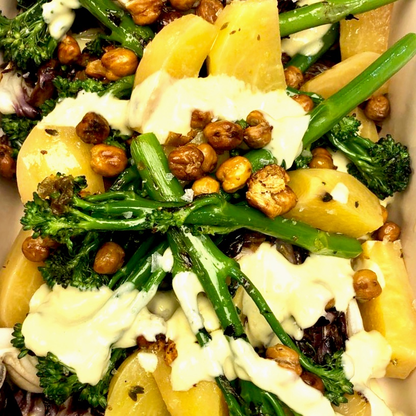 Yellow+beets+w+chargrilled+broccoli%2C+whipped+tahini+and+crispy+chickpeas