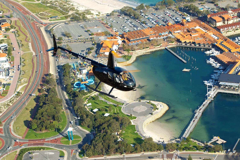 Rottnest to Hillarys Helicopter Transfer -