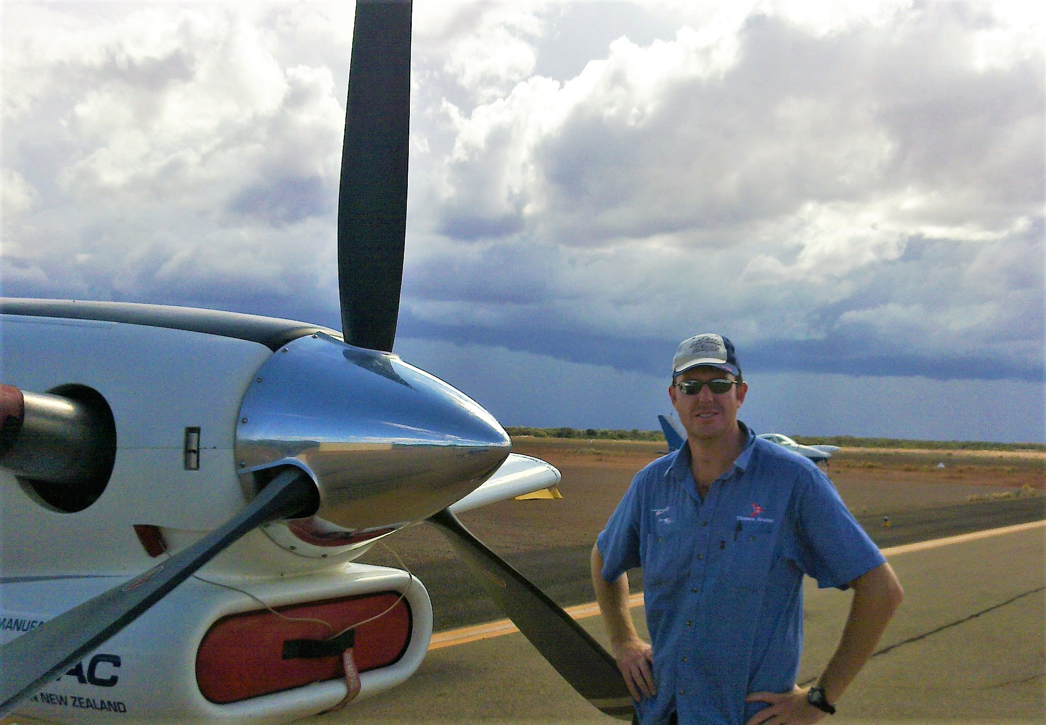 Chris with the PAC750XL in Leonora, Western Australia, 2012