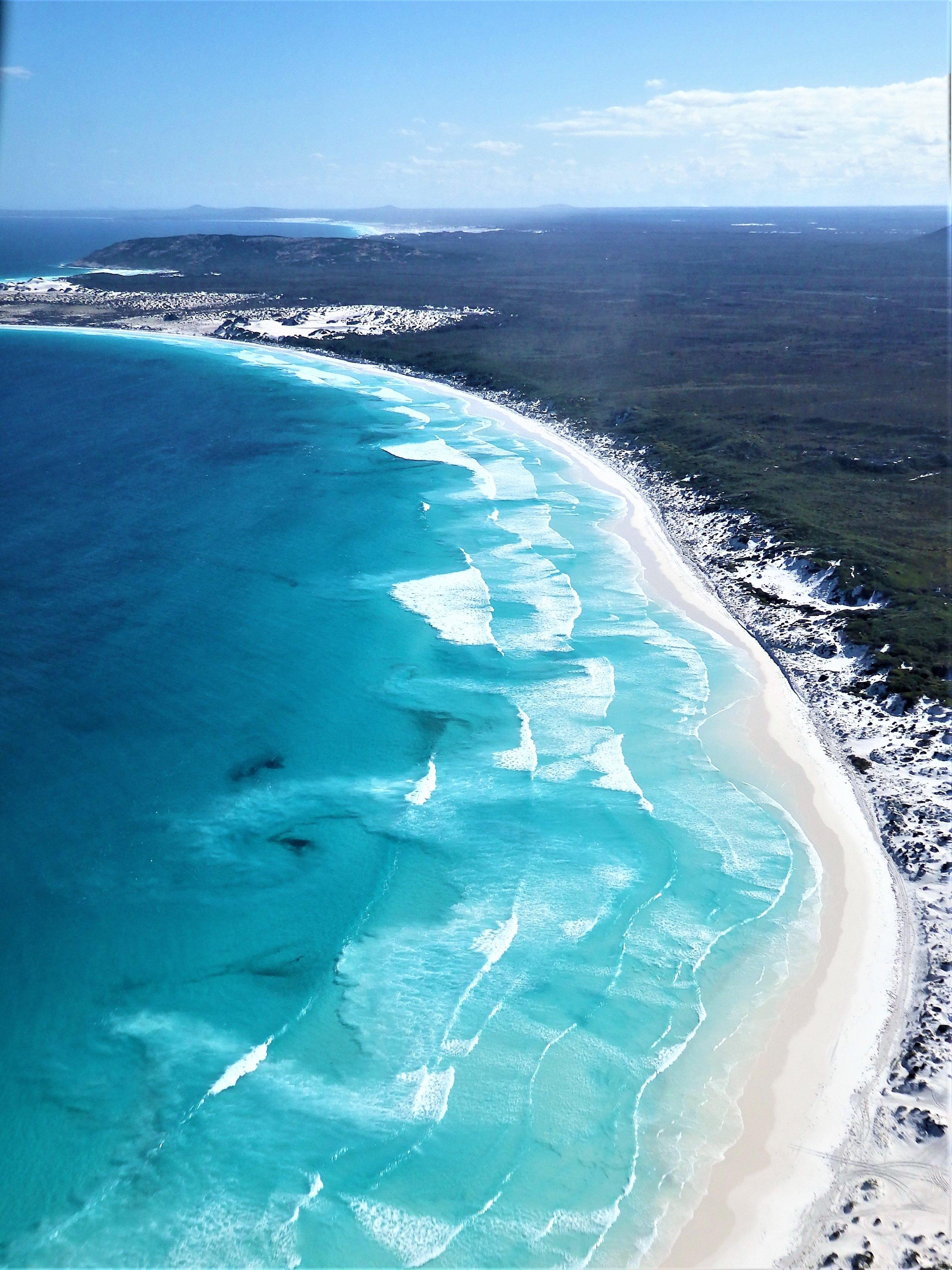 Deserted beaches for miles