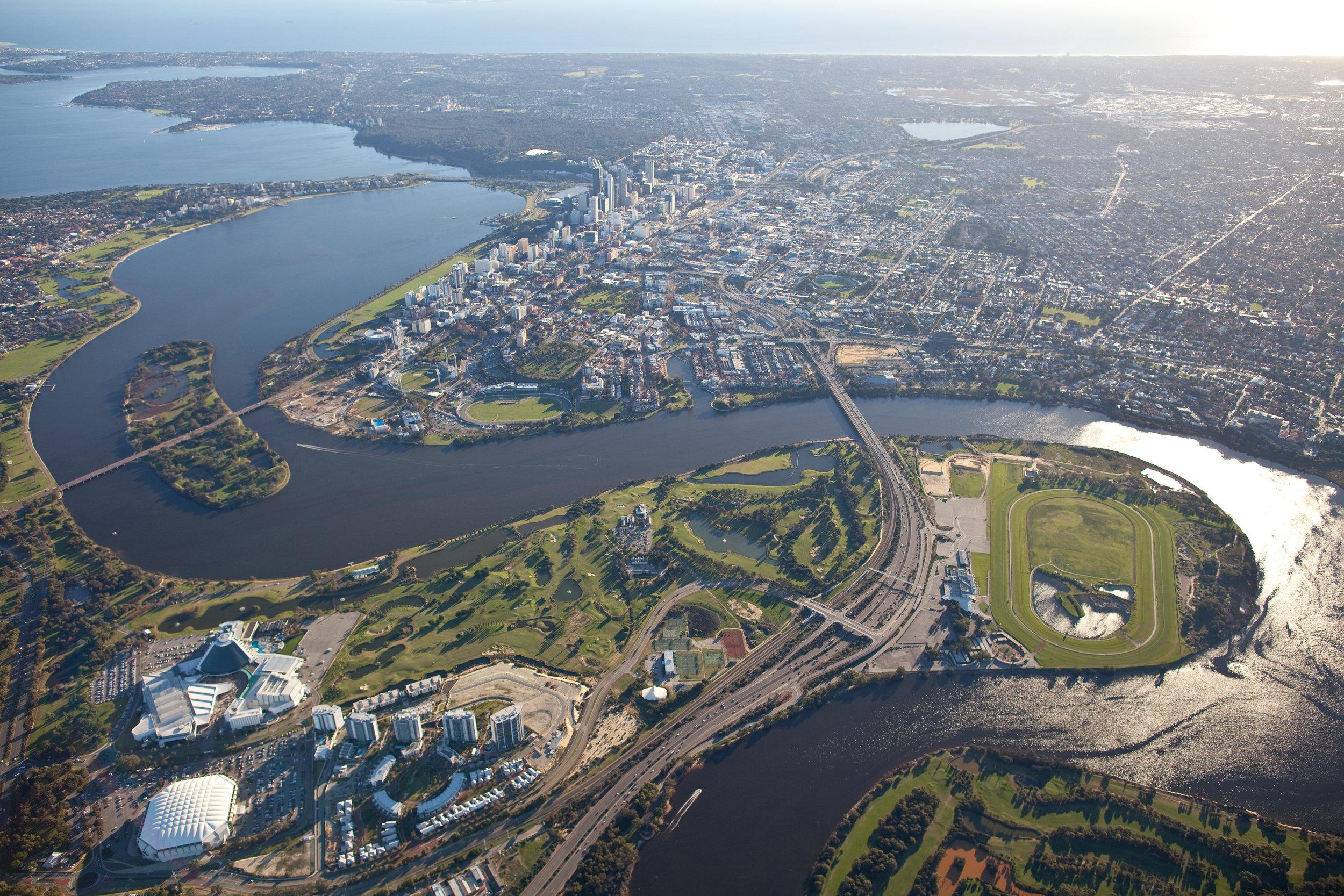 Perth aerial shot