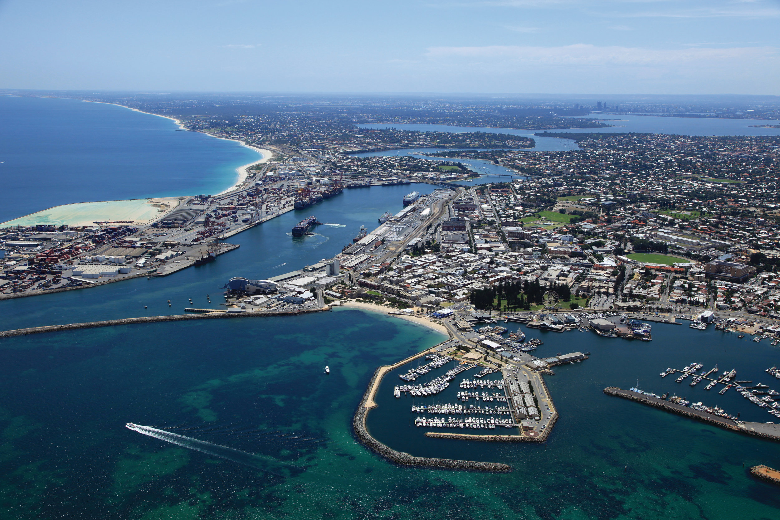 Aerial view of Fremantle