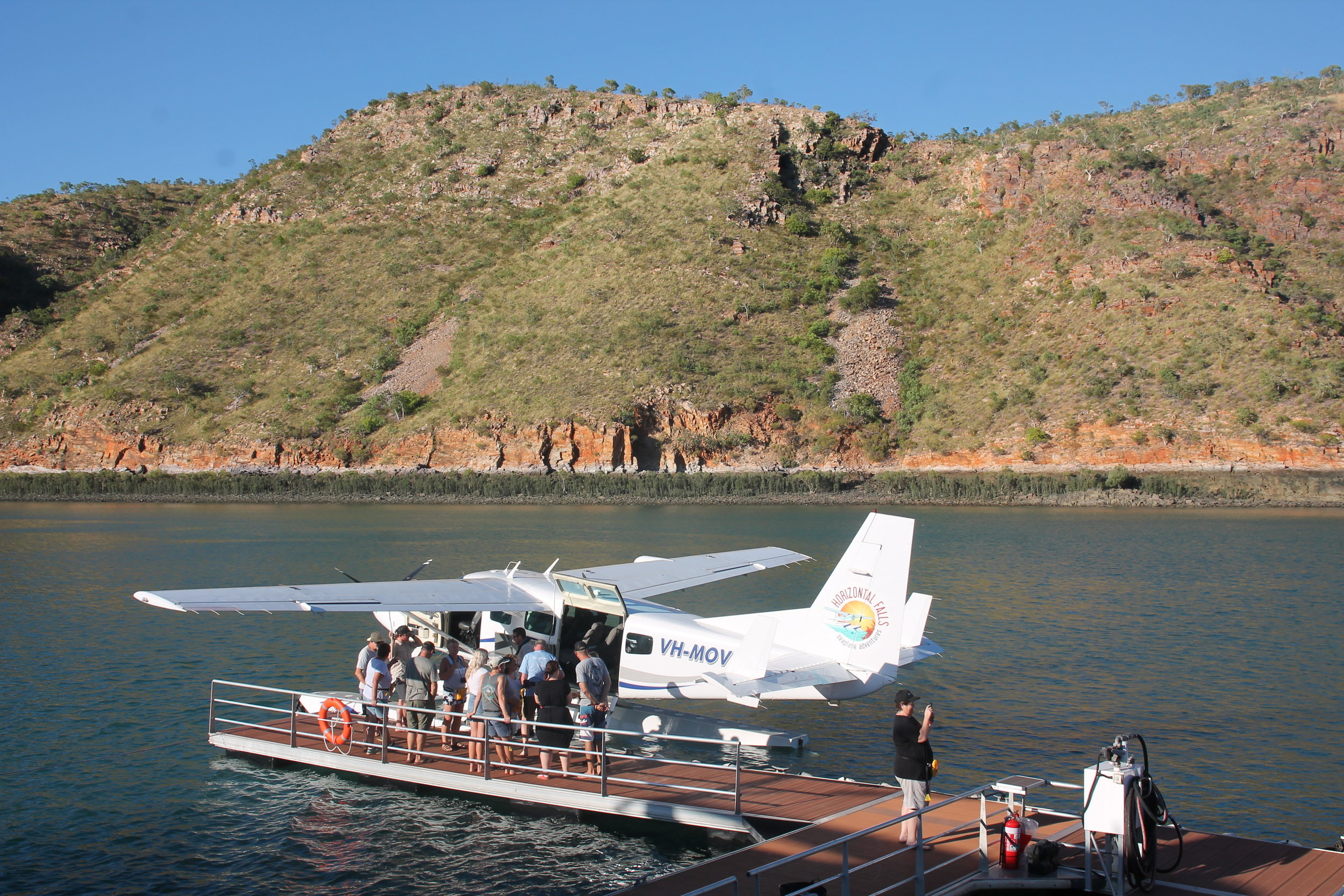 The Seaplane docked at the Horizontal Falls Base.