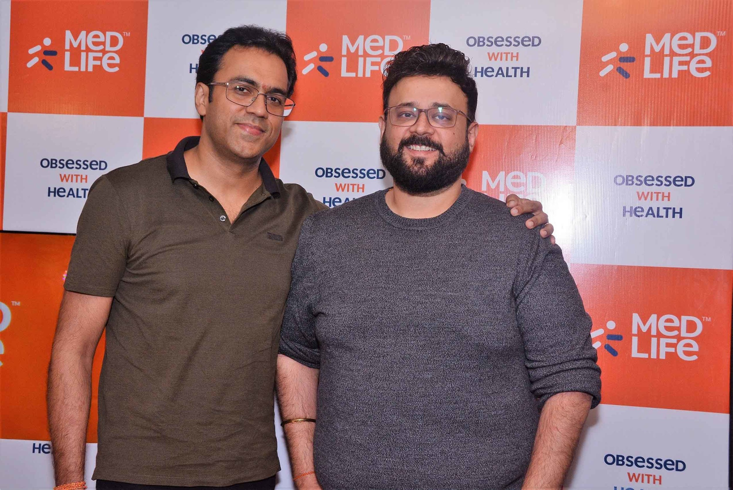 (L-R) Prashant Singh, Founder, Medlife and Tushar Kumar, CEO, Medlife