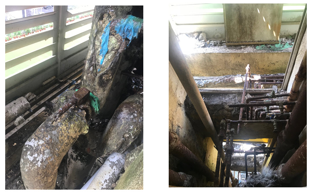 Beyond repairs condition of MEPF services.