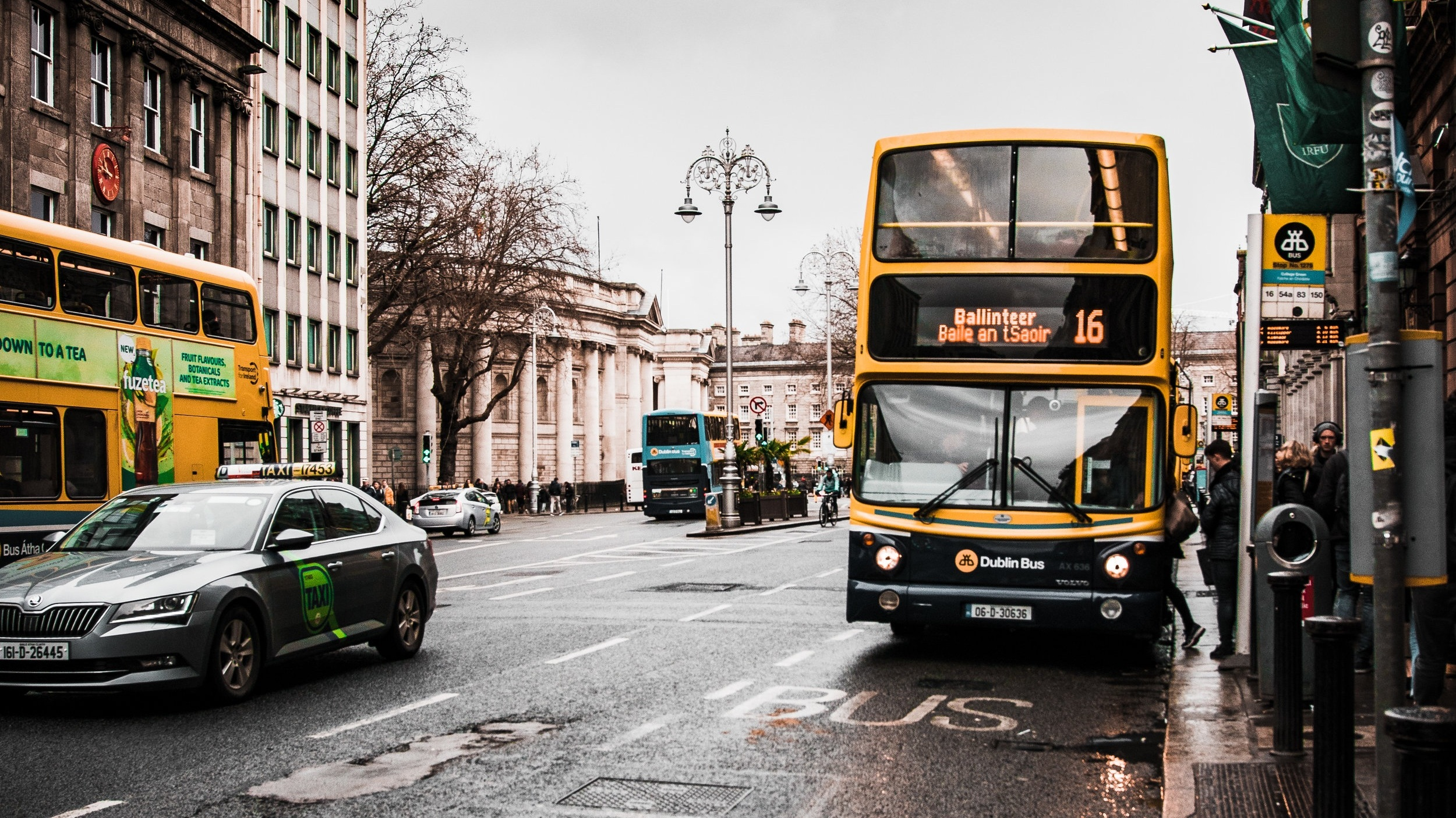 Dublin bus - image accompanying an article about free travel for homeless people in Dublin