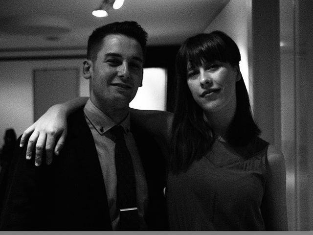 With the amazing singer and friend @evasurseine after our concert at @livezoku in Amsterdam   📷: @world_that_he_wants