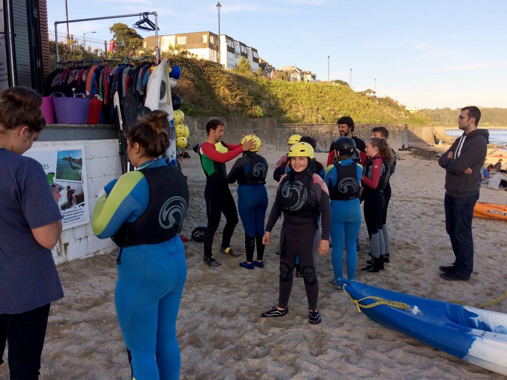 Kayaking at Gylly Beach with the Youth Cafe & Gylly Adventures