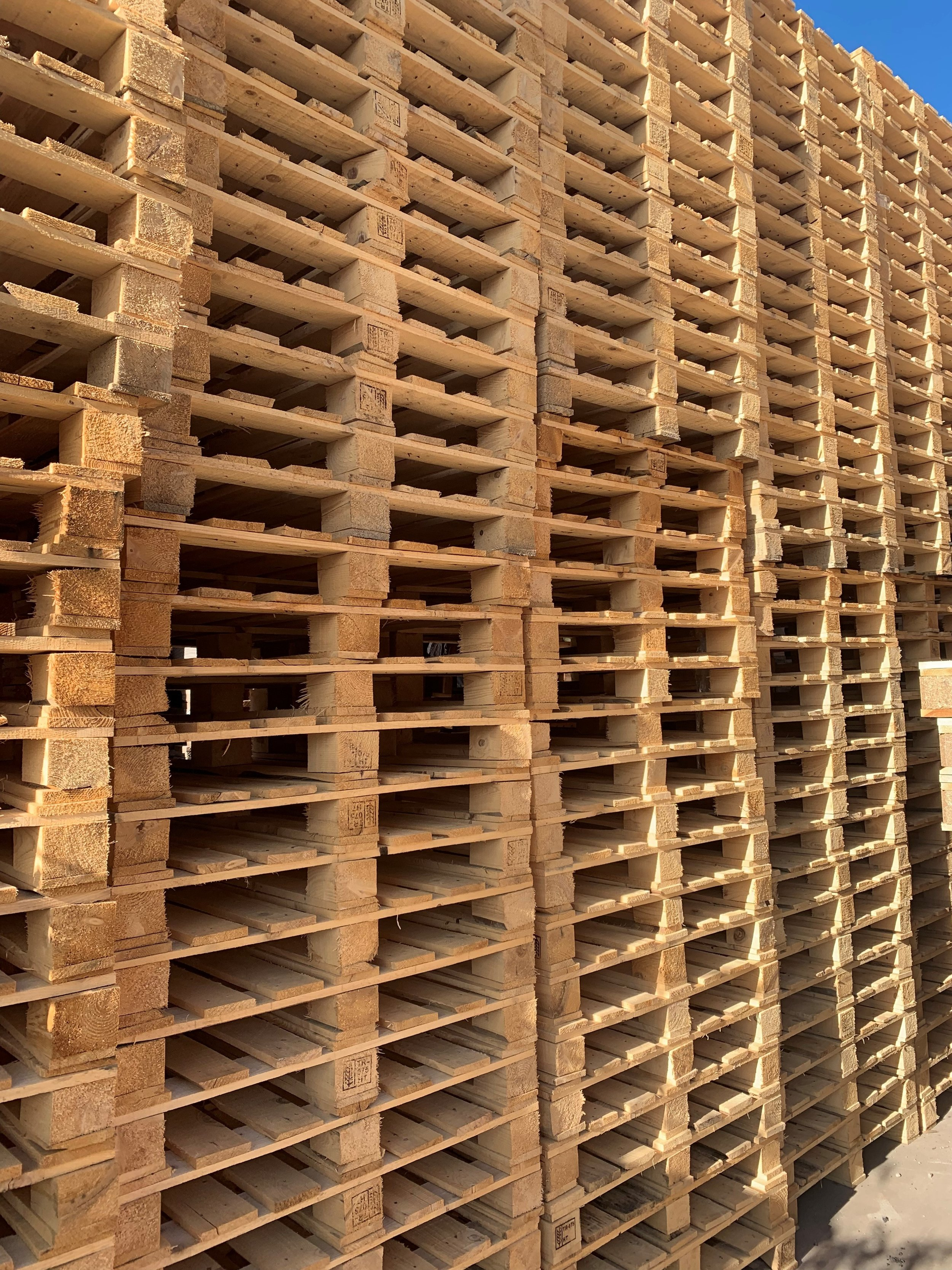 RECYCLED TIMBER EXPORT PALLETS -