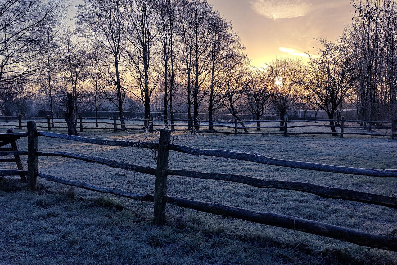 A beautifully crisp, albeit frosty morning in February.