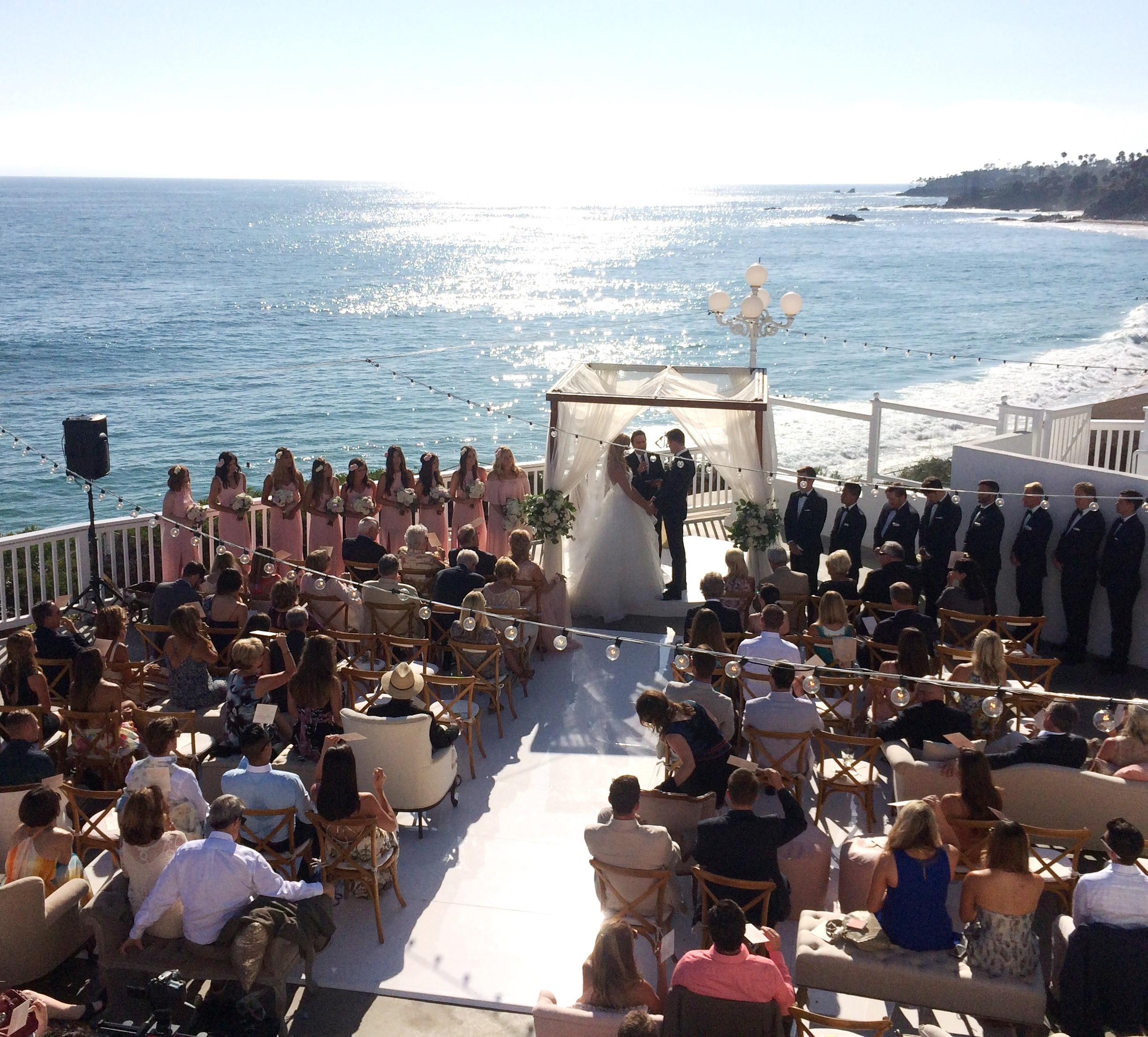 Wedding Celebrant Grant Windle performing a marriage at Laguna Beach, California