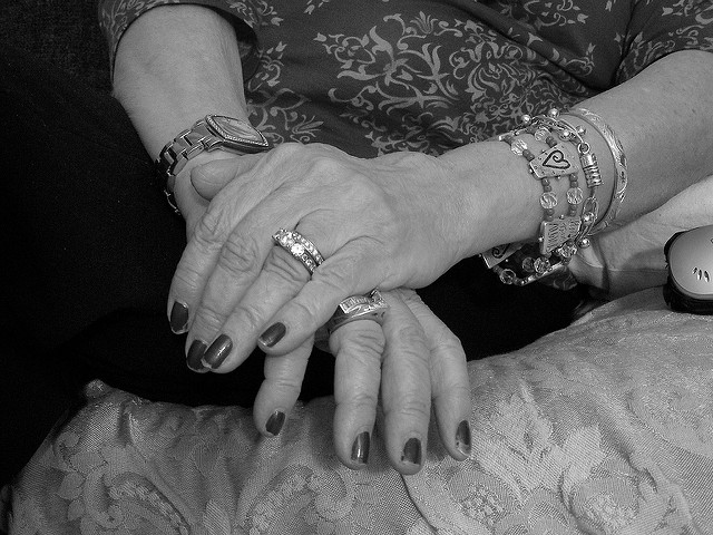 My grandmother's hands are so wrinkled! Isn't it great?