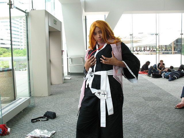 My friend Sierra cosplaying as Rangiku Matsumoto from Bleach.