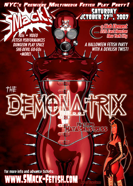 SMack! Fetish Hallowe'en 2007 Demonatrix event flyer.
