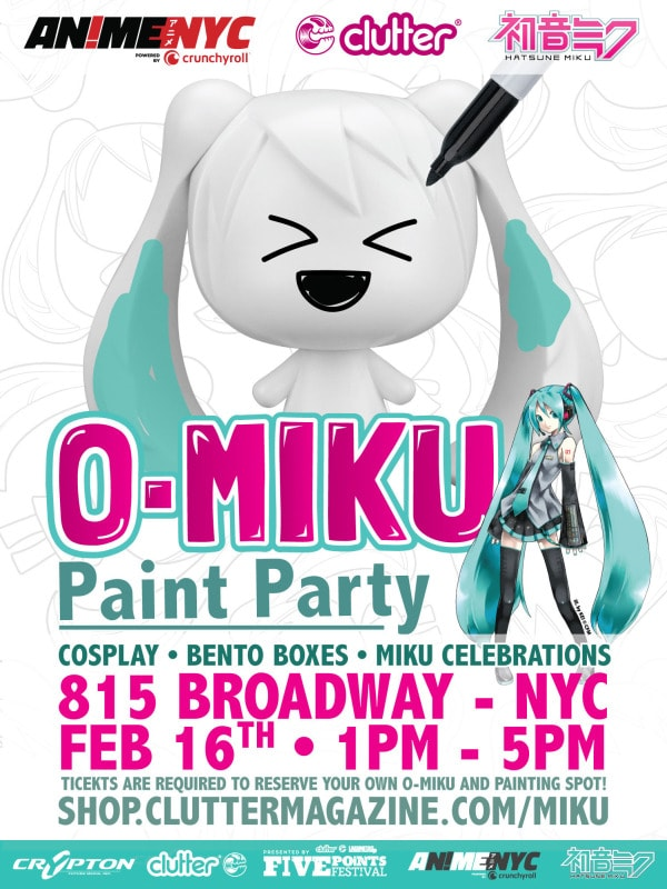 O-Miku Paint Party! event flyer