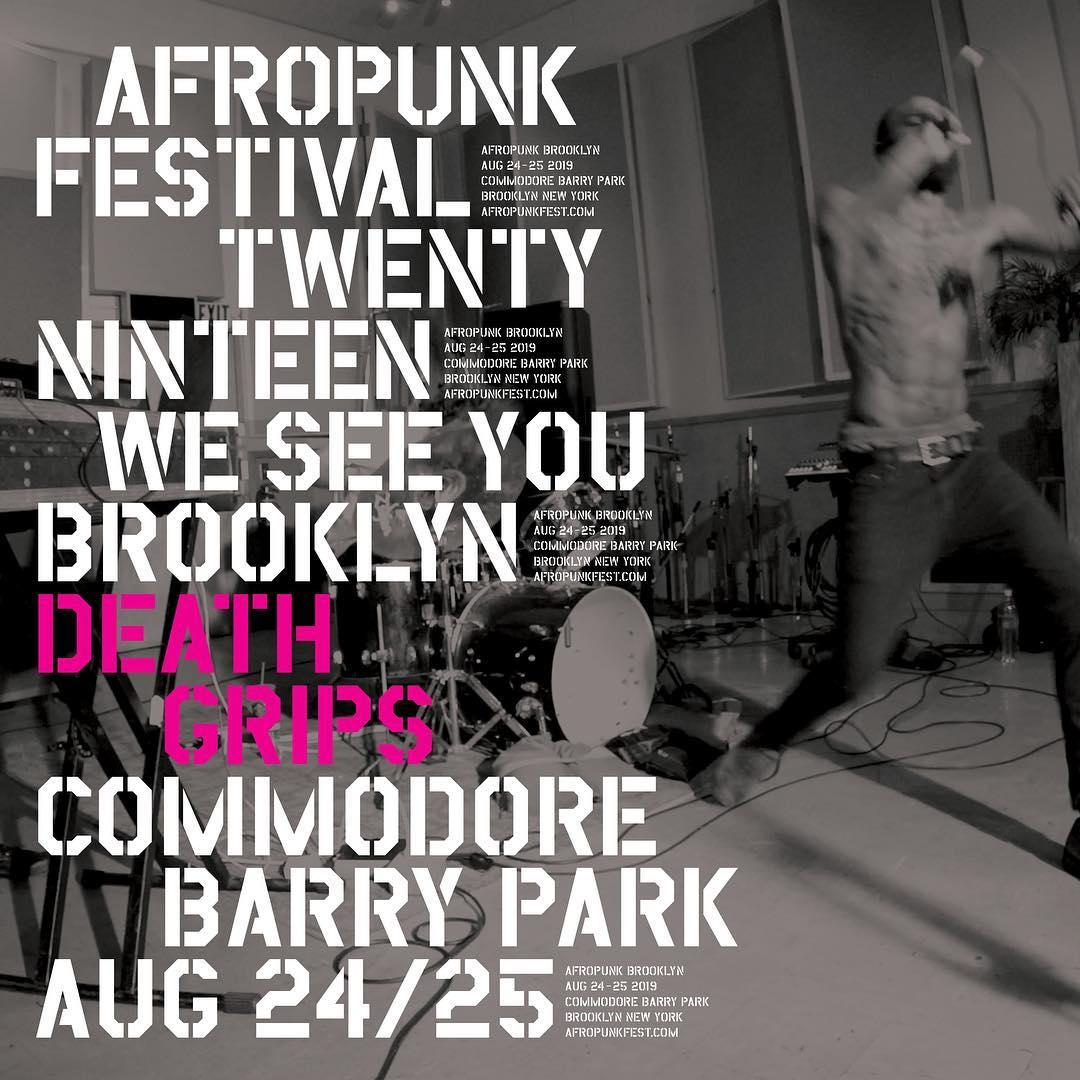 Afropunk Festival 2019 Events Flyer Featuring Death Grips