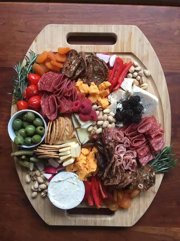 Ally's awesome cheese board from the event! (ooooh, ahhhhh)