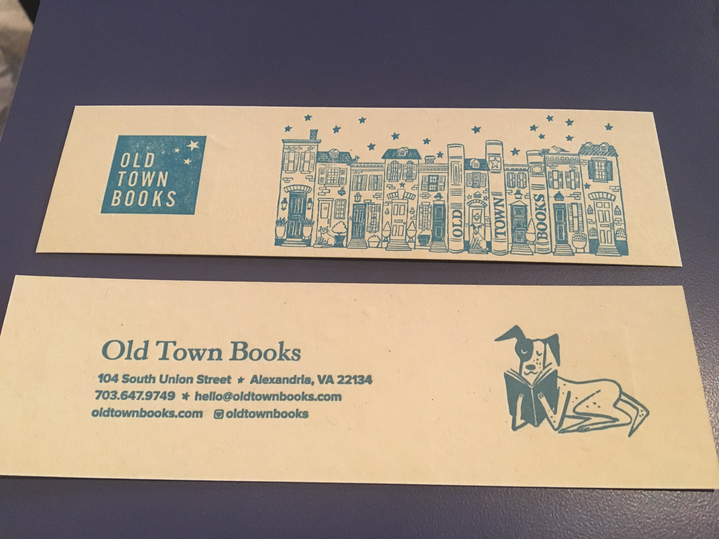Our super cool bookmarks, featuring Scout!