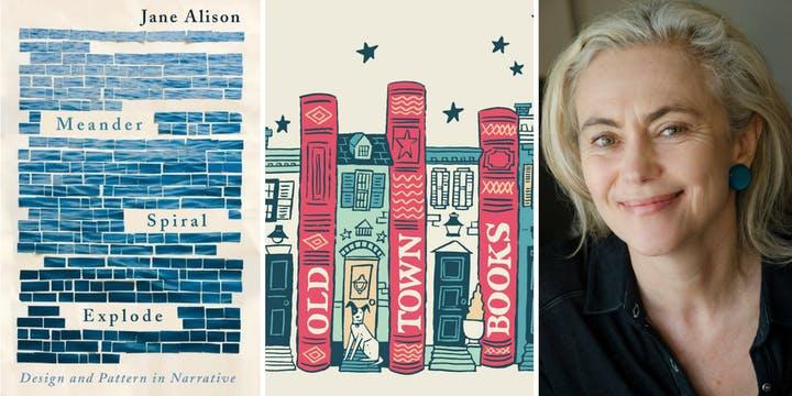 Jane Allison and her book,  Meander, Spiral, Explode