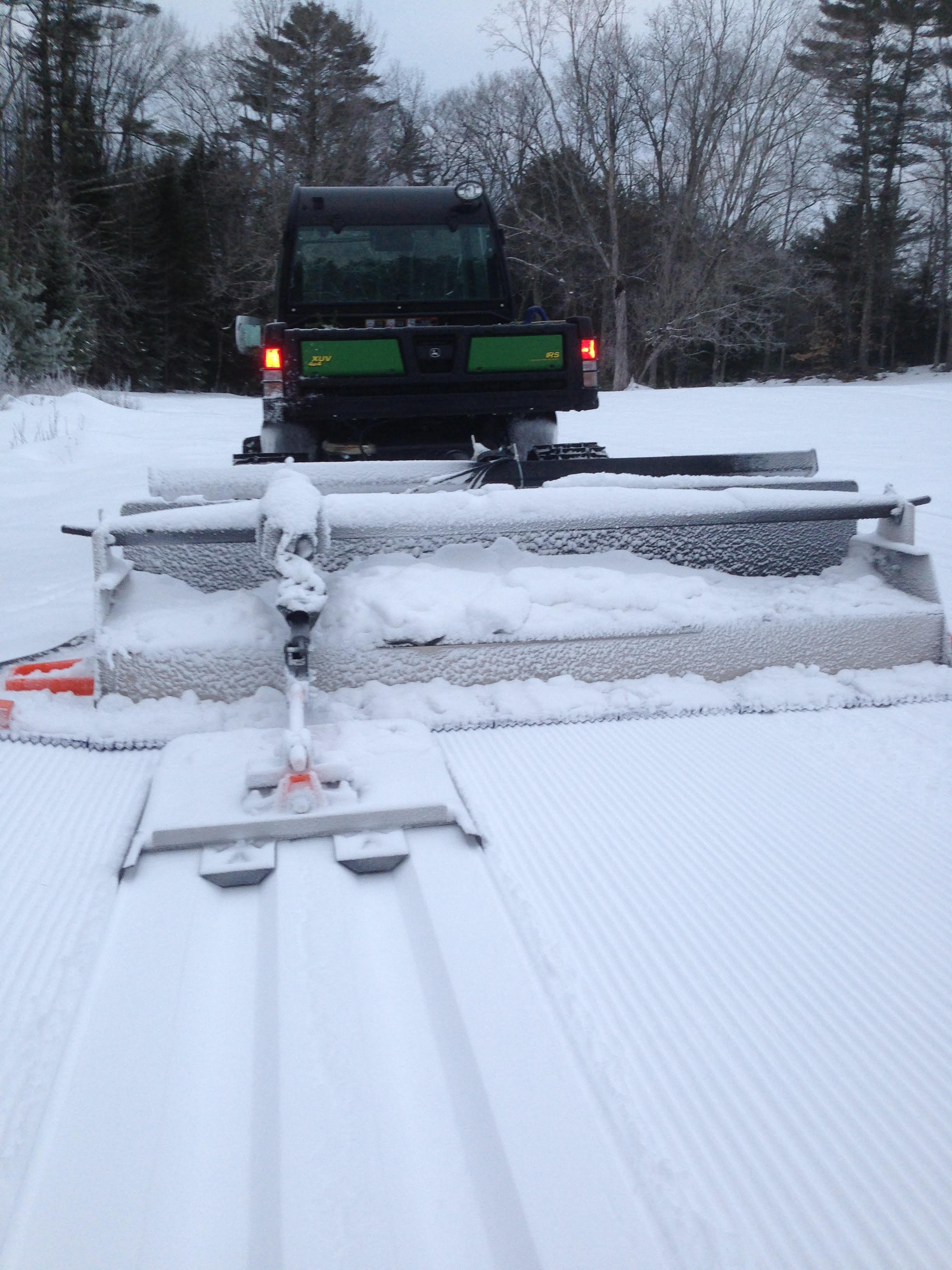 "Our J.D.Gator and 108""Yellowstone Ginzu Groomer Laying Down the Tracks and Corduroy Baby!!!!!!    Simply Sweet!!!"
