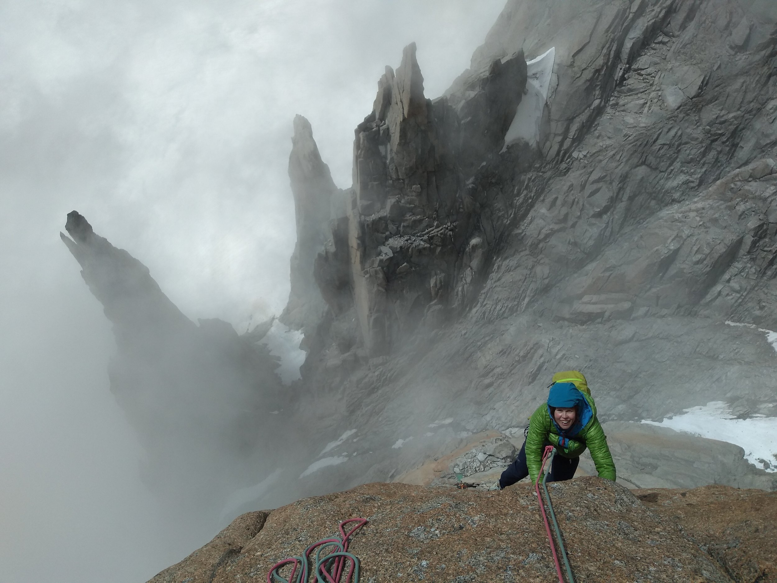 Maria high on the stunning Grand Capucin, Chamonix.jpg