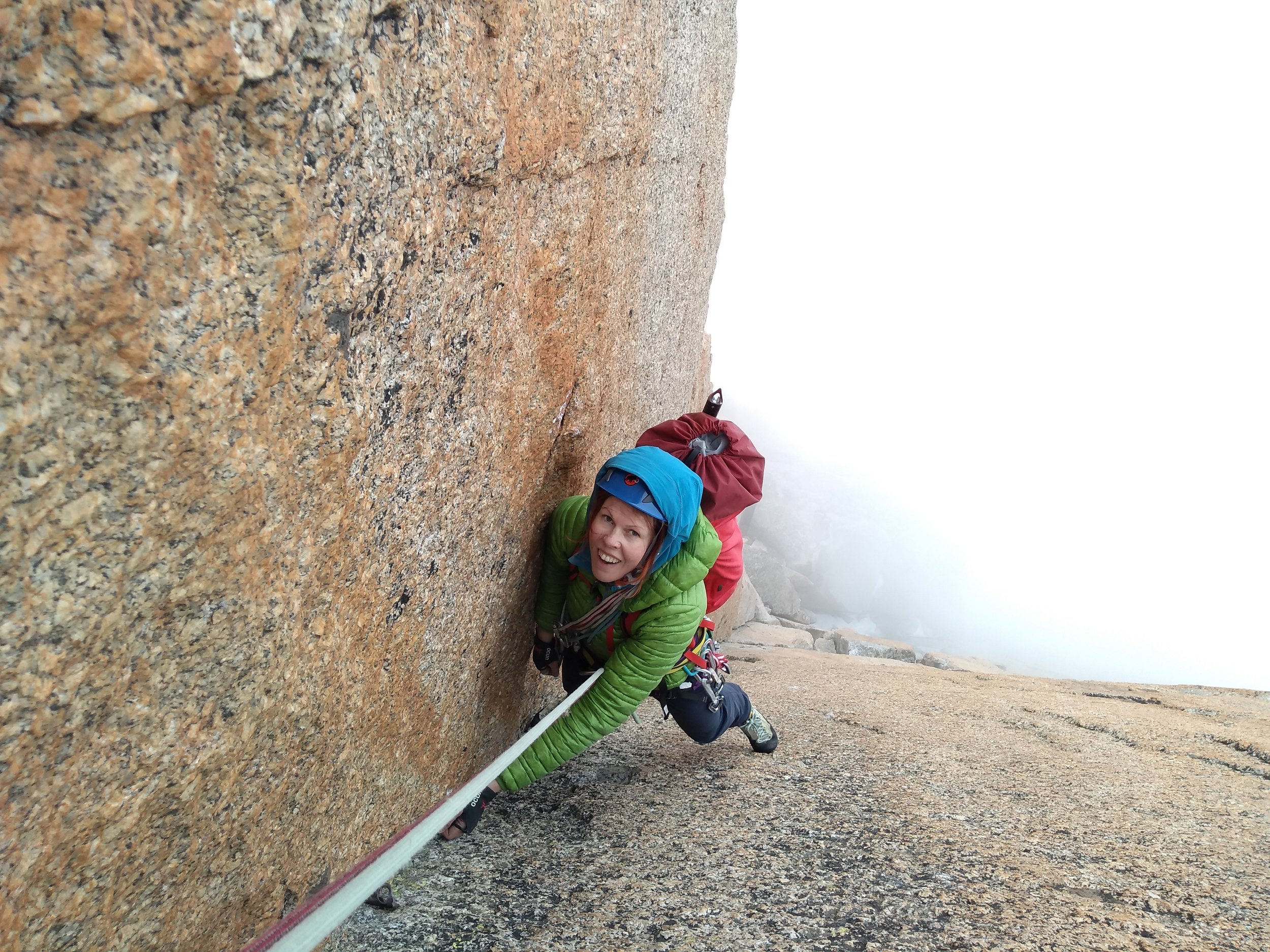 Maria on the 5 Star finish to the Voie Rebuffat, Aiguille du Midi.jpg