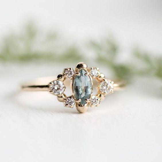 Mossy Sapphire Ring - via Pinterest