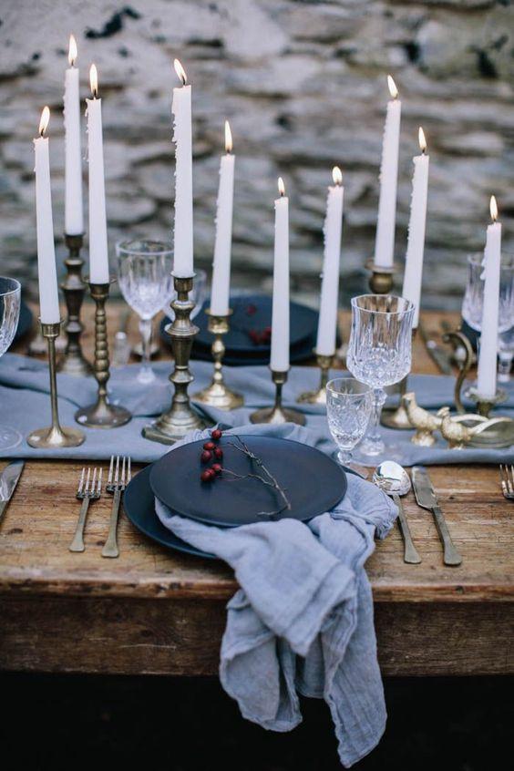 Moody Winter Table - via Pinterest