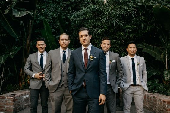 Mix and Match Groomsmen - via Pinterest