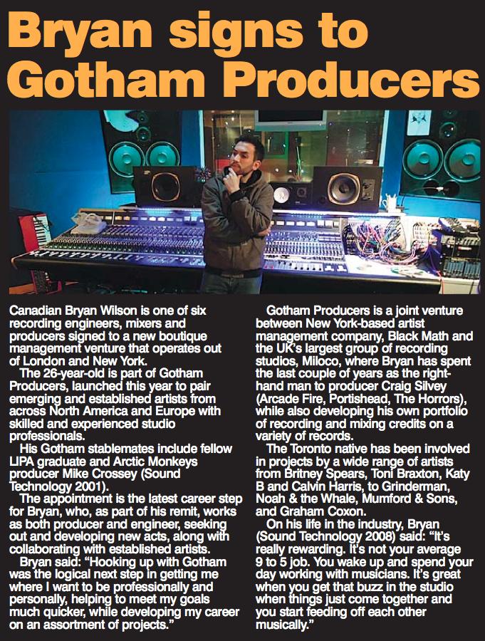 Bryan Wilson with Gotham Producers