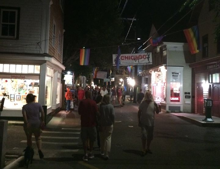 Commercial Street: Provincetown's main drag.