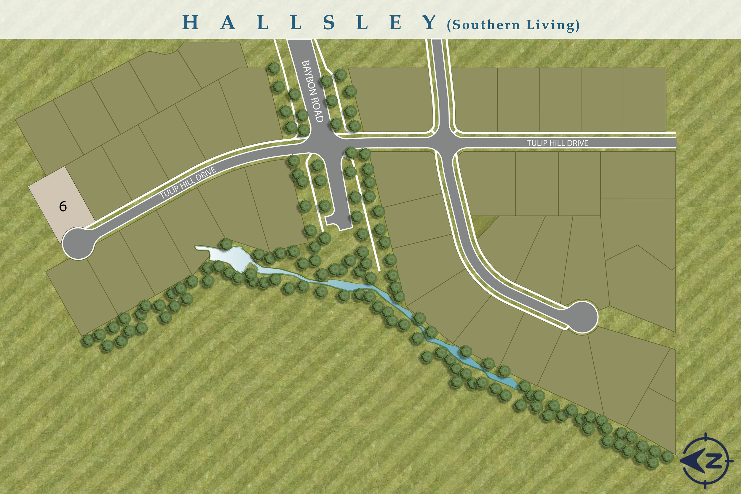 New Home Sites Available In Hallsley - Southern Living Section