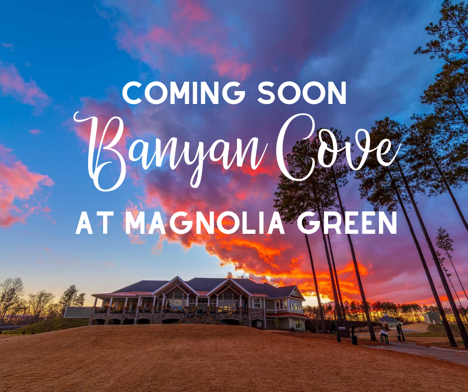 Just announced! We will be building in Magnolia Green's newest custom home section, Banyan Cove. Join our VIP list to learn more about this new community and what PerrinCrest has to offer.