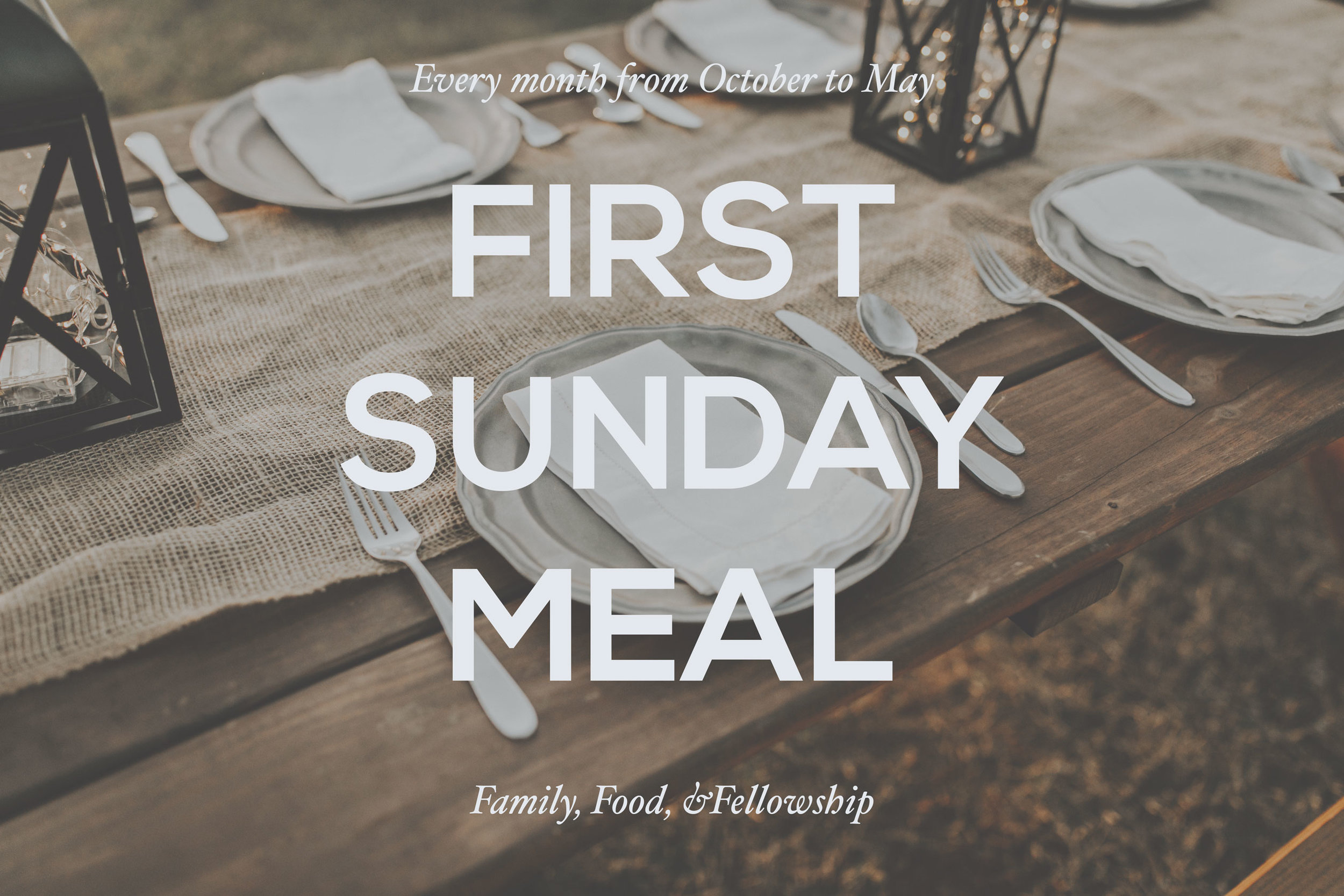 First Sunday Meal