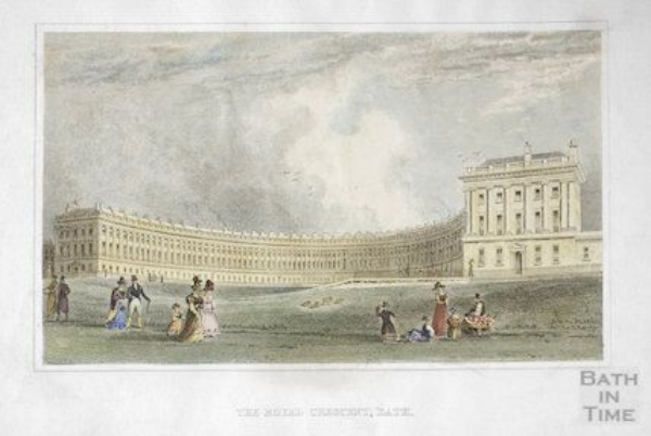 The Royal Crescent, by TH Shepherd ©Bath In Time