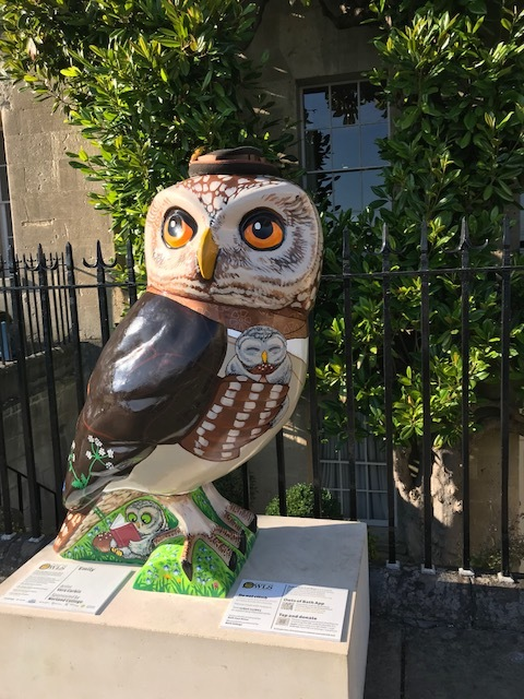 The RCS Minerva's Owl, 'Emily', named after the founder of Norland Nannies