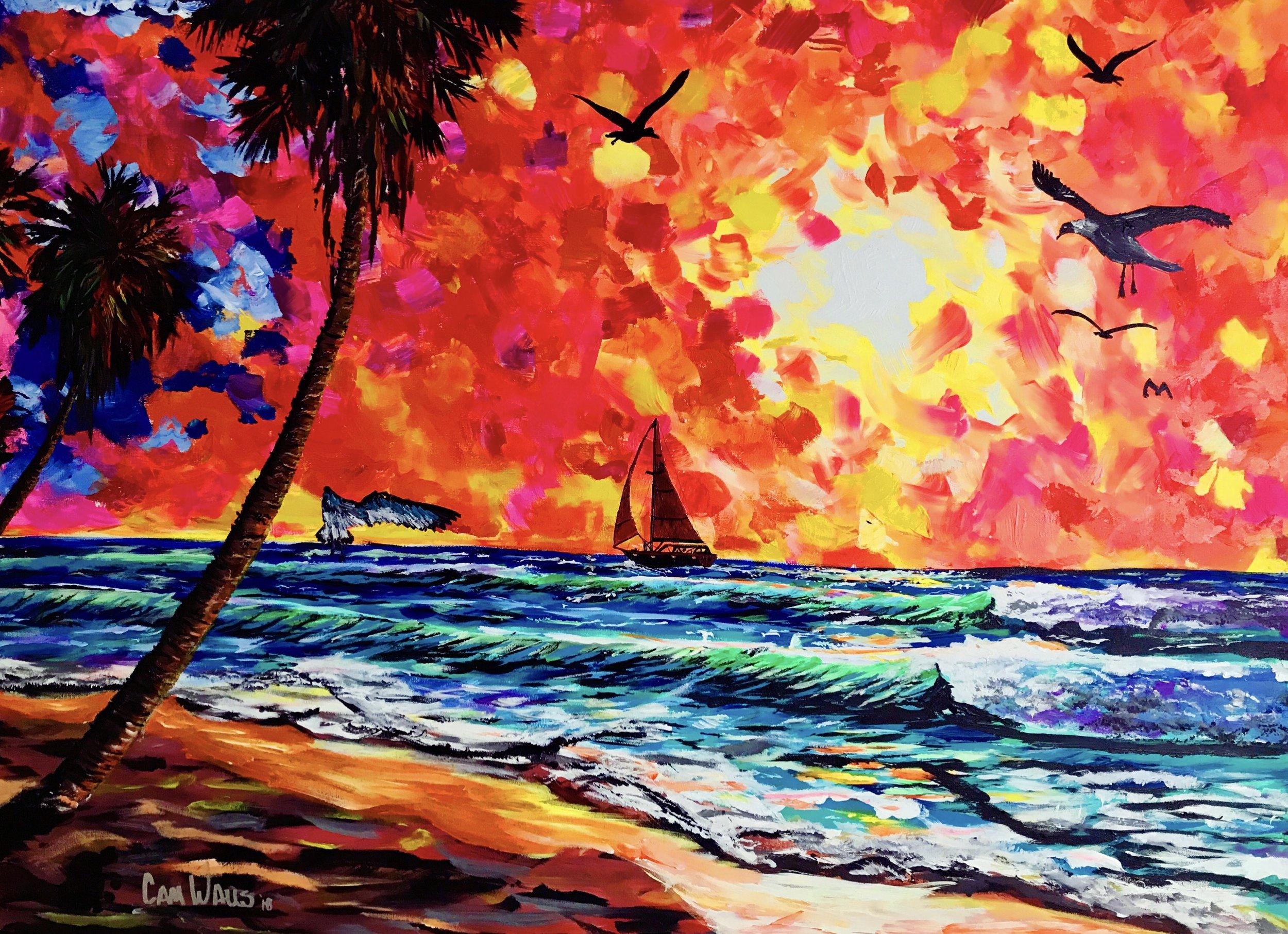 Cameron Walls   Come Sail Away   Acrylic on Canvas  48x36
