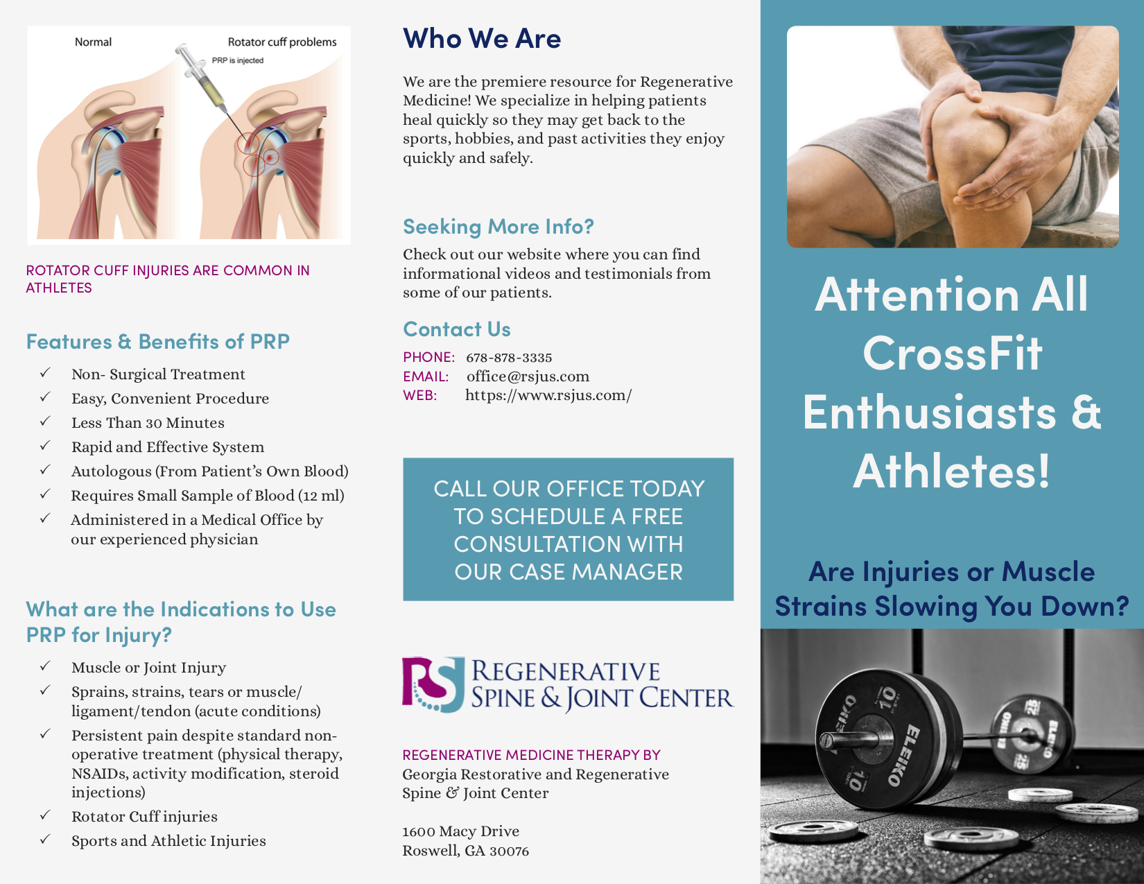 Sports Injury Treatment Brochure -