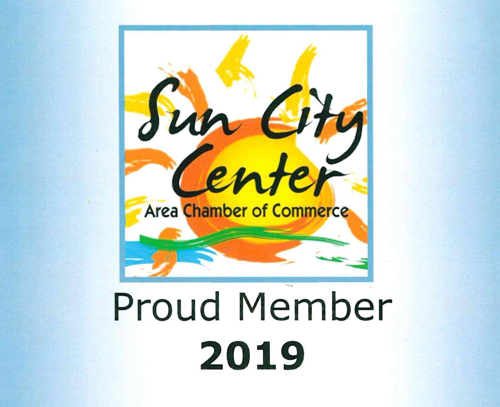 Sun City Center Chamber of Commerce Proud Member 2019