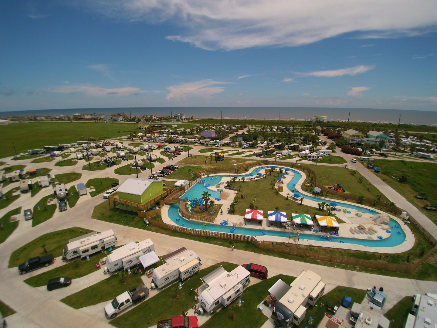GALVESTON, TX - Jamaica Beach RV Resort17200 Termini-San Luis Pass RdGalveston, TX 77554… because what beats a beach front RV park with a lazy river in 70 degree weather with your RV friends!?