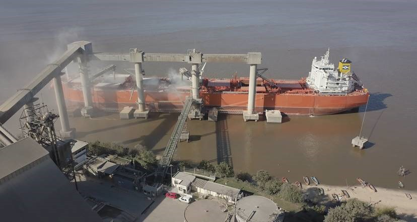 Image: Loading grains in Argentina after completed conversion, cleaning and tank inspections