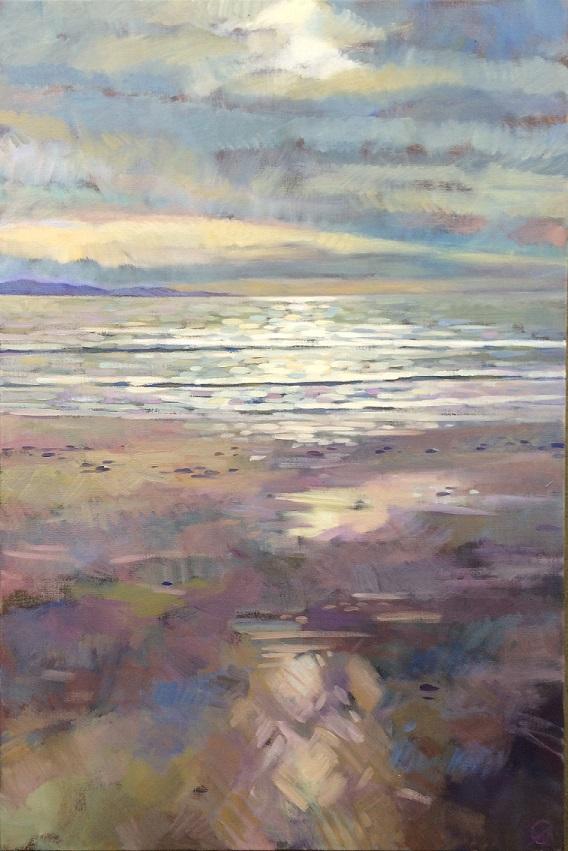 Low Light, Padaro, oil, Whitney Abbott