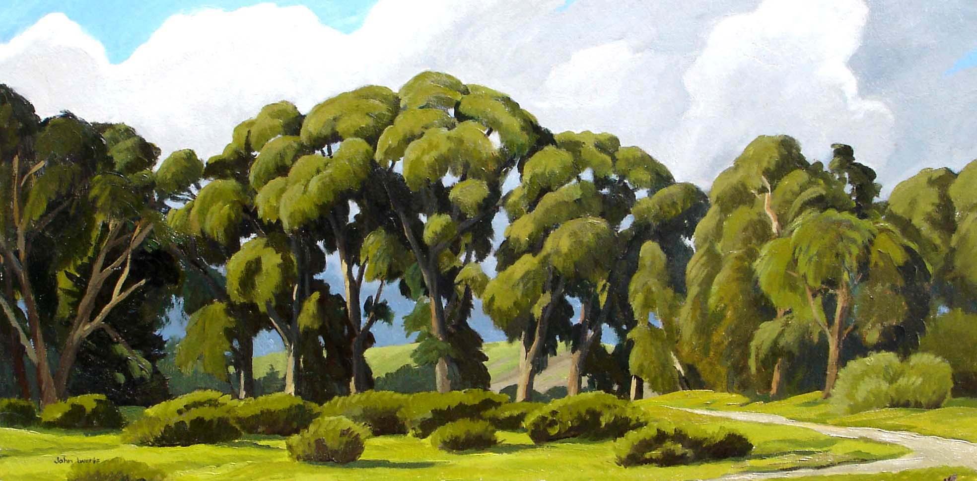 Wilcox Eucalyptus, oil, John Iwerks
