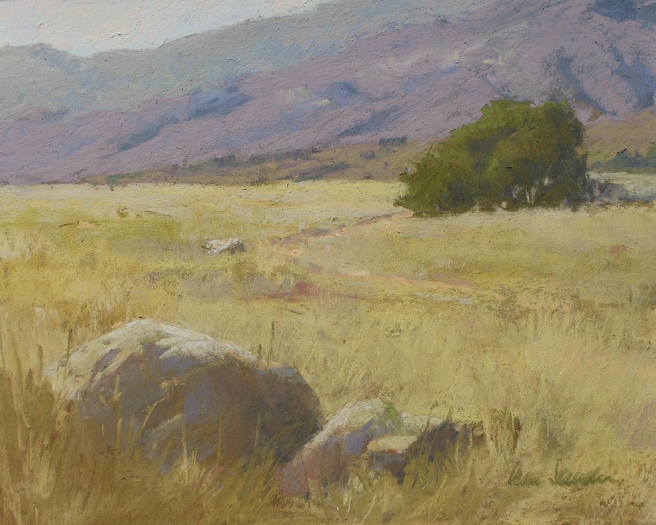 San Marcos Foothills, pastel, Ann Sanders